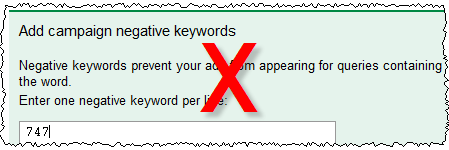 adwords negative keywords