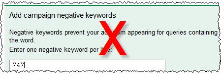 adwords negative keywords