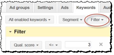 adwords filter