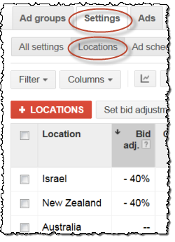 adwords geographic adjustments