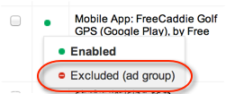 exclude AdWords placement