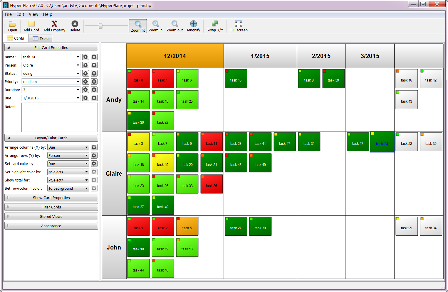 Visual project management software successful software for Planner design