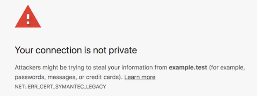 Chrome SSL certificate issue | Successful Software