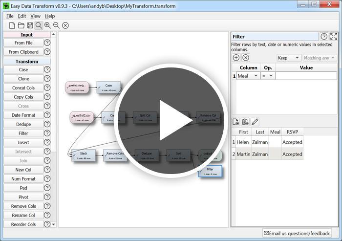Easy Data Transform video